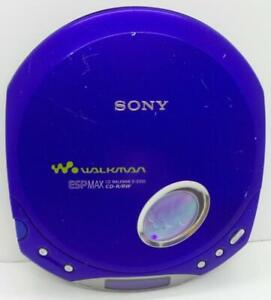 SONY Walkman D-E350 ESPMAX Portable CD Player Blue Tested Works