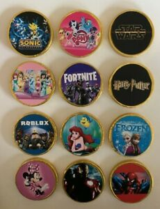 10 x THEMED CHOCOLATE COINS - PARTY BAG FILLERS / STOCKING FLLER - THEME F