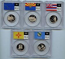 2008 S Clad State Quarter PCGS PR69 Graded DCAM 5 Proof Coin 25 Cent Set