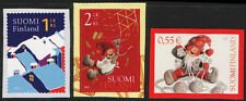 Finland 2011 Christmas Stamps, Santas Helpers Playing, Winter Night, (3), MNH