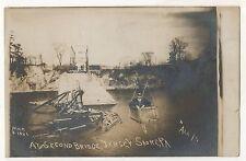 RPPC Second Bridge, Gondola! JERSEY SHORE PA Pennsylvania Real Photo Postcard
