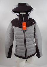 2014 NWT WOMENS KJUS SNOWRAY SKI SNOWBOARD JACKET $1100 L 40 black grey melange