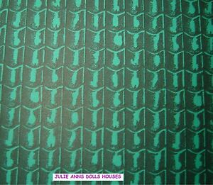 DOLLS HOUSE GREEN TILE ROOF MINIATURE WALL PAPER, 12 TH SCALE NEW, JULIE ANNS