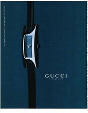 PUBLICITE ADVERTISING  1999   GUCCI  collection montres