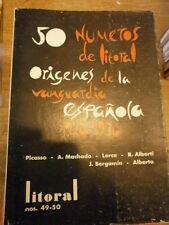 Litoral 50 números de Litoral Origenes de la vanguardia espanola 1926/36 Picasso