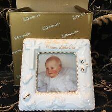 """New! God Bless Porcelain Photo Frame 5"""" High Roman Inc 40052 Baptism Gift Cross"""