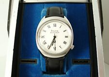 Vintage Bulova Accutron 219 Men's Watch c1977, Running, Display Box NOS Strap