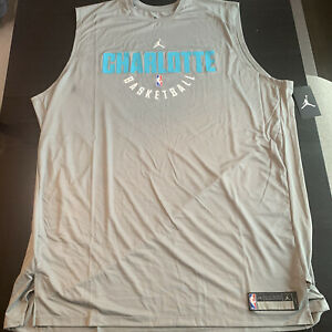 Jordan NBA Charlotte Hornets Player Issued Practice Tank Top Size 3XL Tall Rare