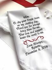 Personalized Weddings Poem-Gifts Handkerchief For Mother Of Groom From Son/1319
