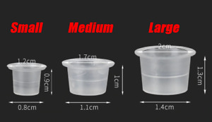 Ink Tattoo Cups Pigment microblading pots holder caps plastic makeup 100pcs UK