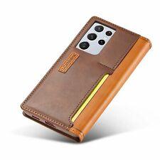 Luxus PU Leder TPU Handy Hülle Wallet Stand Case Für Samsung S21 Plus Ultra 5G