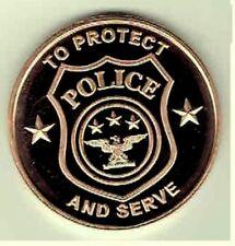 1 oz Copper Round - Police Department
