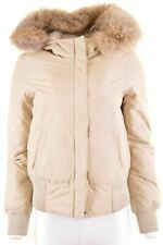 WOOLRICH Womens Padded Jacket Size 10 Small Beige Duck Down  MF07