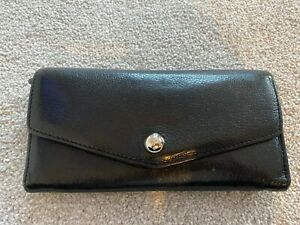 Mulberry Black leather continental purse