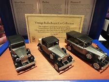 LLEDO VINTAGE ROLLS ROYCE CAR COLLECTION - ON WOODEN PLINTH -  LIMTED EDITION #5
