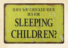 apartment accessories checked Bus for Sleeping Children metal tin sign