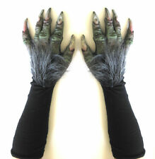 Troll Witch Monster Green Claws Hands Scary Adult Halloween Costume Gloves