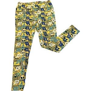 Lularoe Womens Yellow Leggings Tall & Curvy Full Length Yoga Pants Activewear