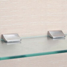 Shelf Glass Clamps Metal Bracket Single Stainless Steel Bathroom Fixed Clips LS