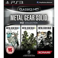 Metal Gear Solid HD Collection PS3 PlayStation 3 Video Game Mint Cond UK Release