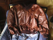 pull pulli pullover cuir leather leder GIMOS GIMO'S Italy  50 <> 54 voire 56