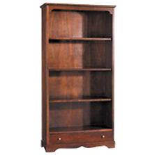 Libreria a giorno con cassetto, legno massello, arte povera, ufficio 312