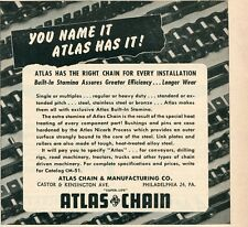 1952 small Print Ad of Atlas Chain & Manufacturing Co Built-In Stamina