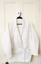 Amazing  Vintage Burberrys' White Cotton - Canvas Jacket with Batwing Sleeves