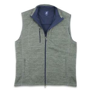 Johnnie-O Mens Tahoe Vest Grey XL New