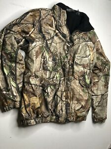 Winchester Heavy Hunting Jacket Camo Green Insulated Mens Size Large