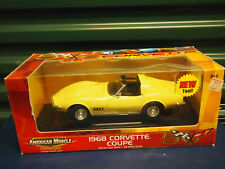 ERTL  Diecast American Muscle 1968 Corvette Coupe 50th Anniversary yellow 1/18