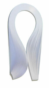 125 quilling paper strips in white - 3mm and 5mm wide and 125gsm