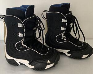Airwalk Snowboard Boots Black 8014021 Mens 7 Womens 8