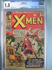 X-Men #2 CGC 1.5 Marvel Comics 1963 1st app Vanisher (Telford Porter)