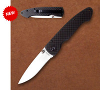 Stone River Gear Ceramic Folding Knife with Carbon Fiber Handle SRG2CFW