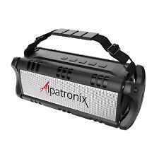 Waterproof Bluetooth Wireless Speaker with Subwoofer Enhanced Bass & Power Bank