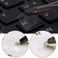 Russian Transparent Stickers Waterproof For Laptop PC Keyboard Red Letters 2Pc