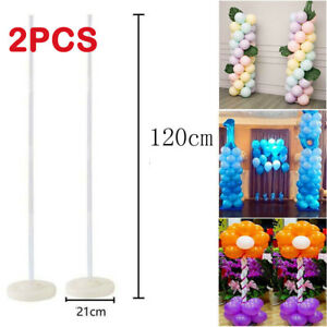 2pcs Balloon Column Arch Base Stand Builder Display Decors Set For Wedding Party