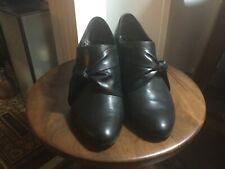 GABOR women's leather ankle  boot  / trouser shoe black size 6 UK 39 EU
