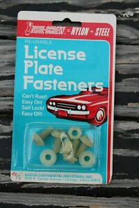 Vintage Nos license plate fasteners / bolts & nuts new old stock attachment