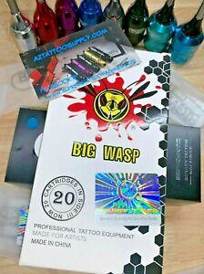 BIG WASP tattoo Needle Cartridge 5,7,9,11,14 ROUND SHADER - SHIP'S FAST FROM AZ