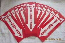 Lot Of 50 Self Adhesive Vinyl 4x12 Fire Extinguisher Arrow Signsnew