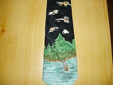 """Men's / Young Men   """"FLY FISHING""""    SILK HOUSE TIE, by A. Rogers"""