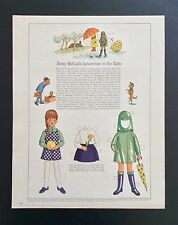 Vintage Betsy McCall Mag. Paper Doll, Betsy's Adventure in the Rain, Sept. 1968
