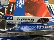 Aoshima 54604 Tuned Parts 69 Super Advan Racing Ver.2 19inch Tire & Wheel set