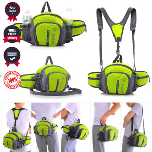 Sports Waist Bag Belt Fanny Pack Hiking Running Waterproof Water Bottle Holder
