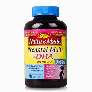 Nature Made prenatal multi + DHA 165ct exp:03/2021