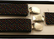 BRACES SUSPENDERS • 35mm Wide Thick Strap • Mens Ladies • GIFT • BOXED #10