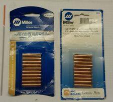 Miller # 135424 y 135425 puntas de contacto nuevo en envases pistola mig, Carrete XR.