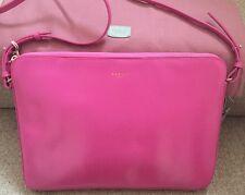 "Radley De Beauvoir Crossbody 13"" Laptop Bag Sleeve Case Pink Leather RRP £149"